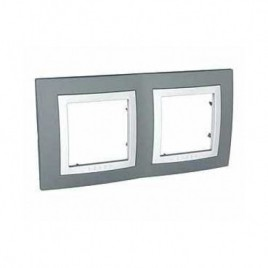 Декоративна рамка двойна техническо сива, Unica Basic, MGU2.004.858