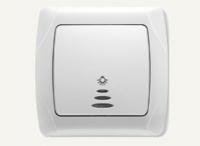 Ключ лихт бутон светещ Кармен бял
