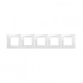 Декоративна рамка петорна бяла, Unica Basic, MGU2.010.18