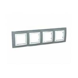 Декоративна рамка четворна техническо сива, Unica Basic, MGU2.008.858
