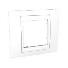 Декоративна рамка единична бяла, Unica Basic, MGU2.002.18