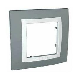 Декоративна рамка единична техническо сива, Unica Basic, MGU2.002.858
