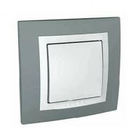 Ключ лихт бутон, UNICA BASIC техническо сиво, MGU10.206.858D