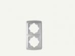 Рамка двойна вертикална бяла Кармен
