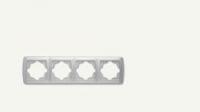 Рамка четворна хоризонтална бяла Кармен
