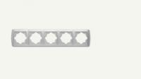 Рамка петица хоризонтална бяла Кармен