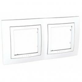 Декоративна рамка двойна бяла, Unica Basic, MGU2.004.18