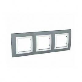 Декоративна рамка тройна техническо сива, Unica Basic, MGU2.006.858