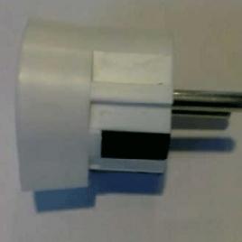 Щепсел монофазен -Т 16А бял