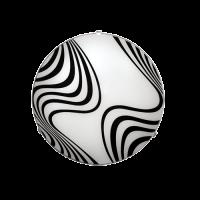 Плафониера Вълни ф300 черен/бял