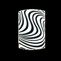 Аплик Вълни 200/290, черен/бял