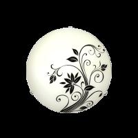 Плафониера Жасмин ф300 черен/бял