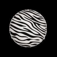 Плафониера Зебра ф300 черен/бял