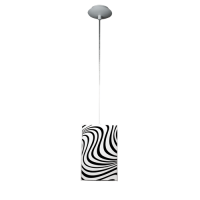 Пендел Вълни 1цa, 150х1000мм, бял/черен