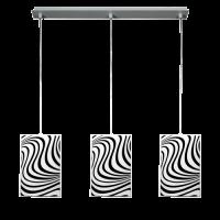Пендел Вълни 3кa, 600х1000мм, бял/черен