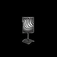 Настолна лампа Вълни, 150х400мм, черен/бял