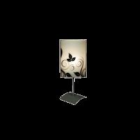 Настолна лампа Флора, 150х400мм, черен/бял