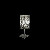Настолна лампа Зебра, 150х400мм, черен/бял