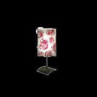 Настолна лампа Роза, 150х400мм, бордо/бял