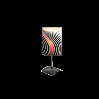 Настолна лампа Инфинити, 150х400мм, бордо/черен/бял