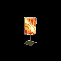 Настолна лампа Хепи, 150х400мм, екрю/оранж/злато