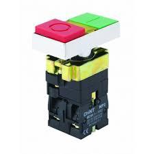 Пуск-стоп бутон с LED-индикация, 220V, метален