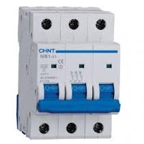 NB1-63. Автоматичен предпазител 6kA, 3P 10A, крива C