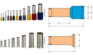 Кабелен накрайник изолиран  ERGOM НІ 0,75/10 DIN, 100бр.