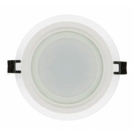 LPRG1842. LED панел за вграждане стъклен кръг IP44, 4200K, 220V, 18W