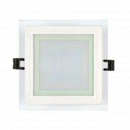 LED панел за вграждане стъклен квадрат IP44, 2700K, 220V, 6W