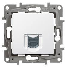 Компютърна розетка RG45,UTP cat.6, без крачета, Niloe, бял