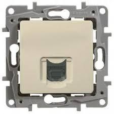 Компютърна розетка RG45,UTP cat.6, без крачета, Niloe, крем