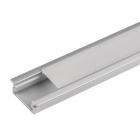 Алуминиев профил за LED лента, плитък,за вграждане, 2м