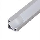 Алуминиев профил за LED лента, ъглов с борд, 2м