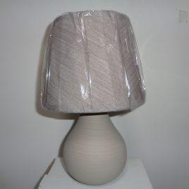 Настолна лампа бежова