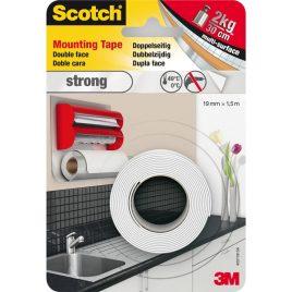 3M Scotch. Двустранно монтажна лента за вътрешн употреба 1.5м/19мм