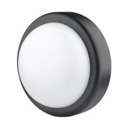LED водоустойчива плафониера 14W, IP44, 4200K, черна