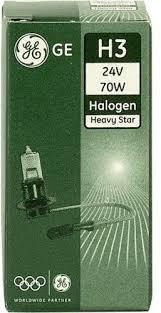 Автомобилна лампа за фар, GE 50350, H3 24V 70W