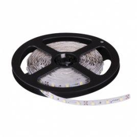 LED лента SMD 3528, неутрална бяла, неводоустойчива, 12V DC, 60LED/m, 5m, 4.8W/m