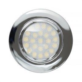 Мини LED луна за вграждане хром, 4W, неутрална светлина, 4200K, IP44, 220V