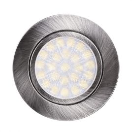 Мини LED луна за вграждане стаен никел, 4W, неутрална светлина, 4200K, IP44, 220V