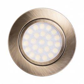 Мини LED луна за вграждане сатиниран месинг, 4W, неутрална светлина, 4200K, IP44, 220V