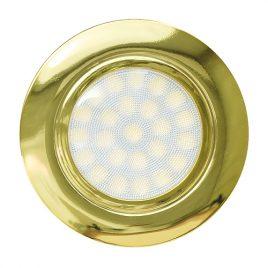 Мини LED луна за вграждане злато, 4W, неутрална светлина, 4200K, IP44, 220V
