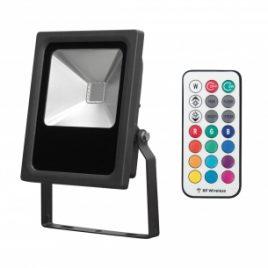 LED прожектор RGB RF, IP65, COB, 220-240V/AC, 10W