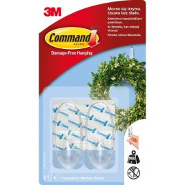 3M Command Закачалка прозрачна овал – 2бр.