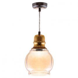Пендел лъскаво злато/кехлибар, стъкло, DECO ART-2812