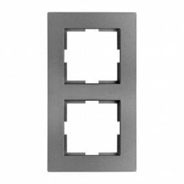 Панасоник Каре Плюс двойна рамка вертикална, тъмно сива