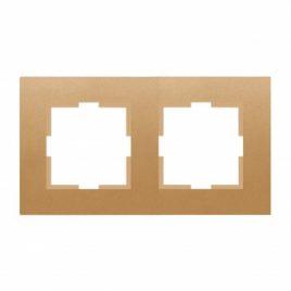 Панасоник Каре Плюс двойна рамка хоризонтална, бронз