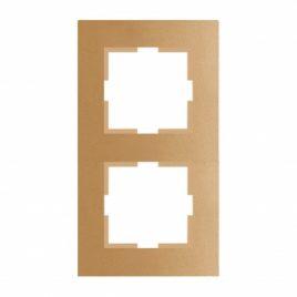 Панасоник Каре Плюс двойна рамка вертикална, бронз