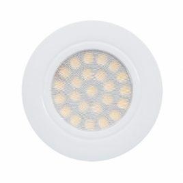 Мини LED луна за вграждане кръг бяла, 220V/AC, 4200K, IP44, 4W